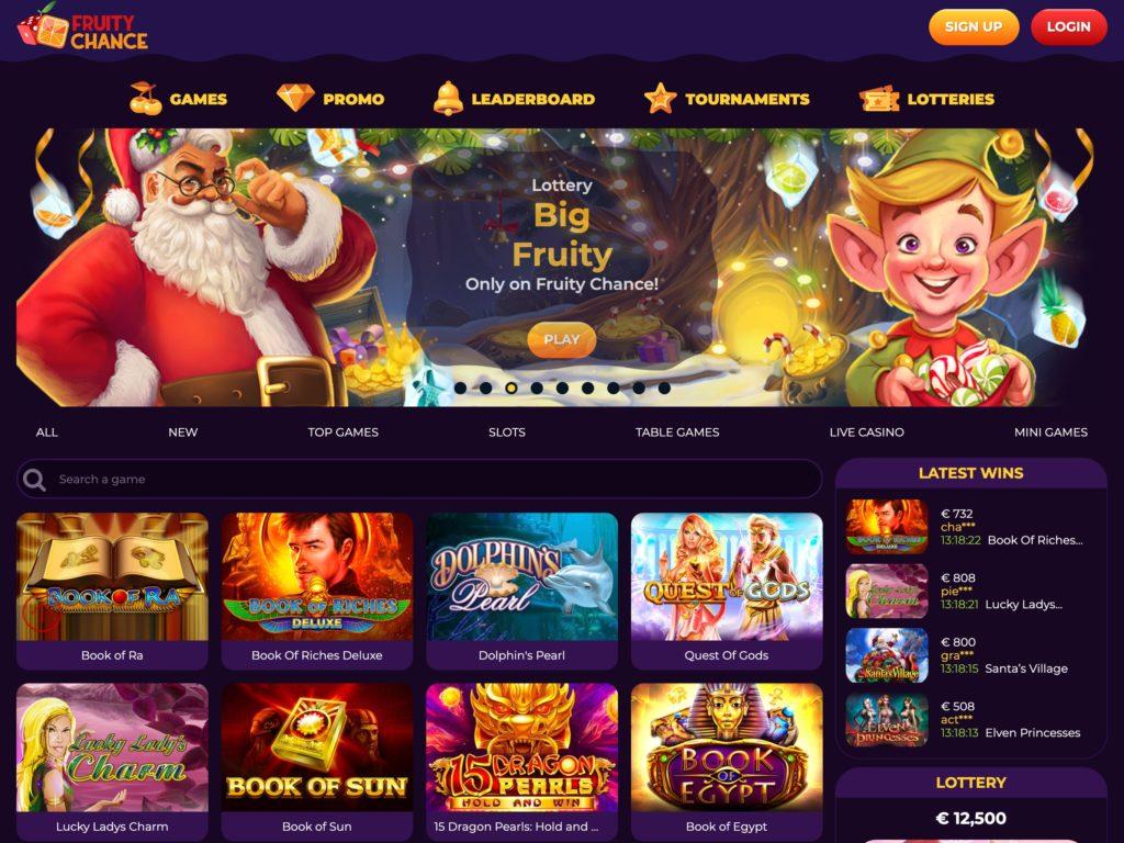 Fruity Chance Home Screen
